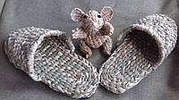 Лапти плетеные массажные для дачи, для бани