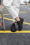 Стильні кросівки Adidas Yeezy Boost 350 V2 Black REFLECTIVE (Адідас Ізі Буст 350 РЕФЛЕКТИВ), фото 7