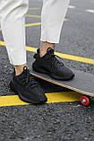 Стильні кросівки Adidas Yeezy Boost 350 V2 Black REFLECTIVE (Адідас Ізі Буст 350 РЕФЛЕКТИВ), фото 9