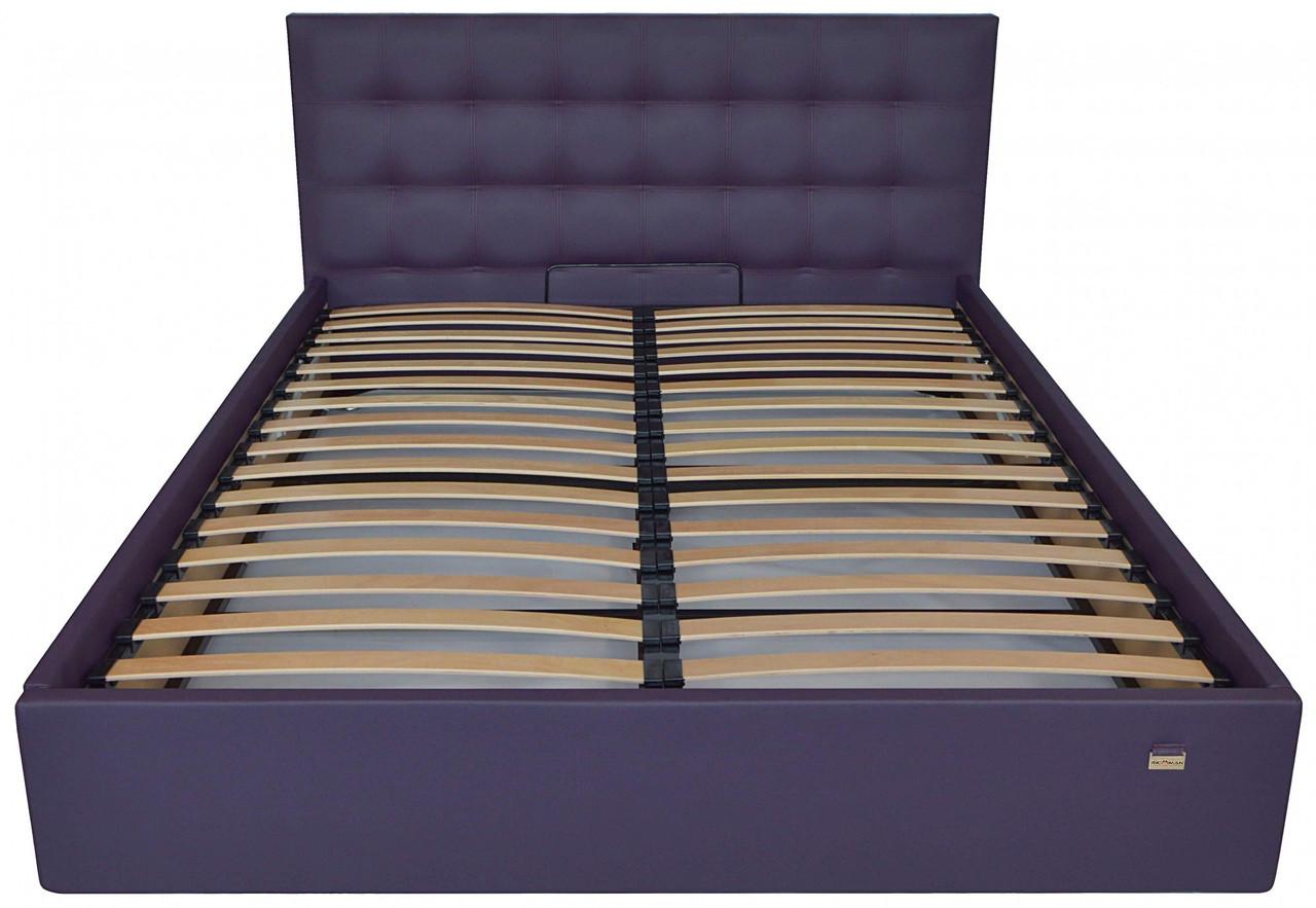 Ліжко Richman Честер 120 х 200 см Madrit-0965 З підйомним механізмом і нішею для білизни Фіолетова