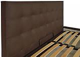 Кровать Richman Честер 120 х 200 см Suarez 1010 С подъемным механизмом и нишей для белья Темно-коричневая, фото 3