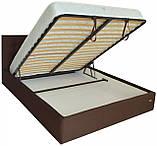 Кровать Richman Честер 120 х 200 см Suarez 1010 С подъемным механизмом и нишей для белья Темно-коричневая, фото 4