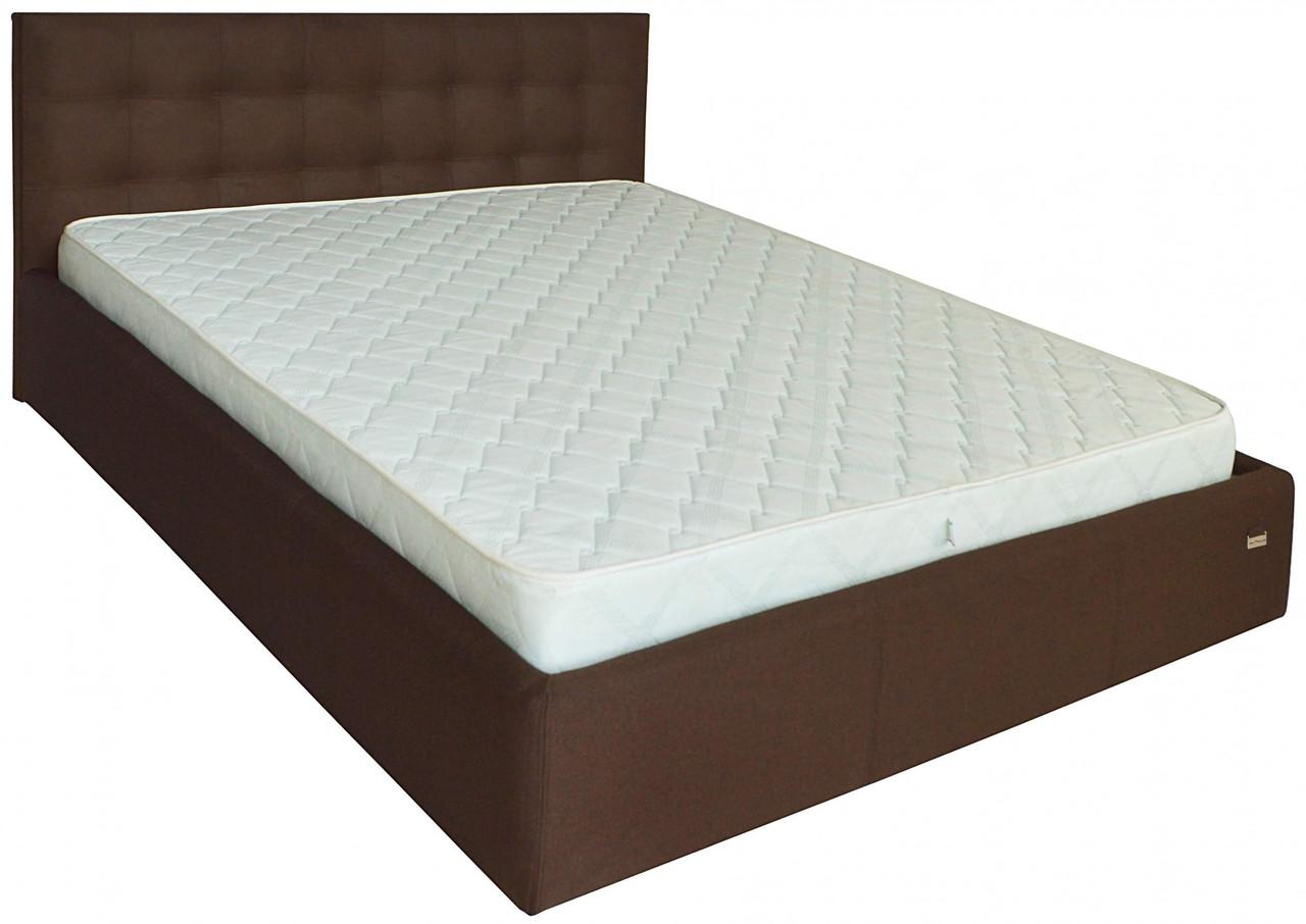Кровать Chester Comfort 140 х 200 см Suarez 1010 С подъемным механизмом и нишей для белья Темно-коричневая