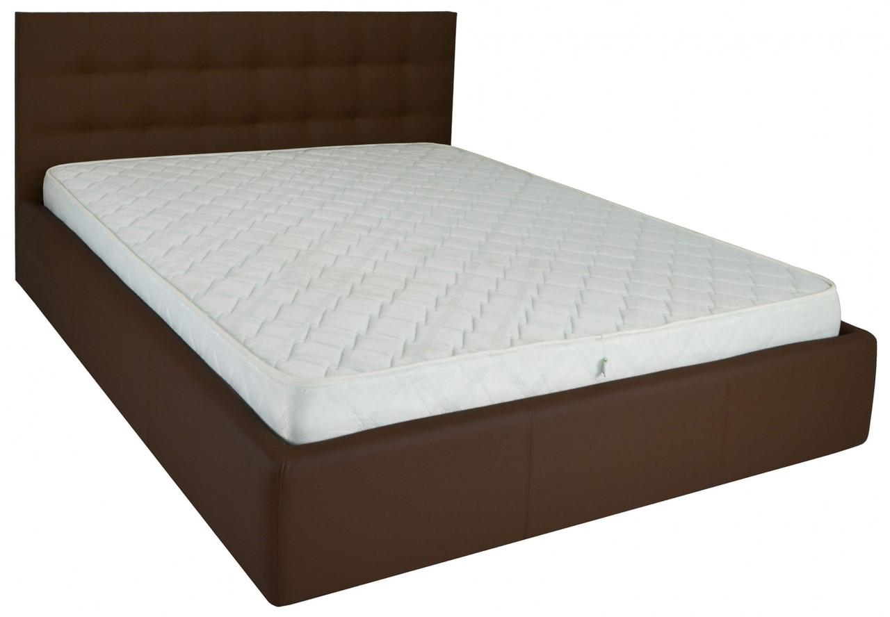 Кровать Chester Comfort 140 х 200 см Fly 2231 A1 С подъемным механизмом и нишей для белья Темно-коричневая