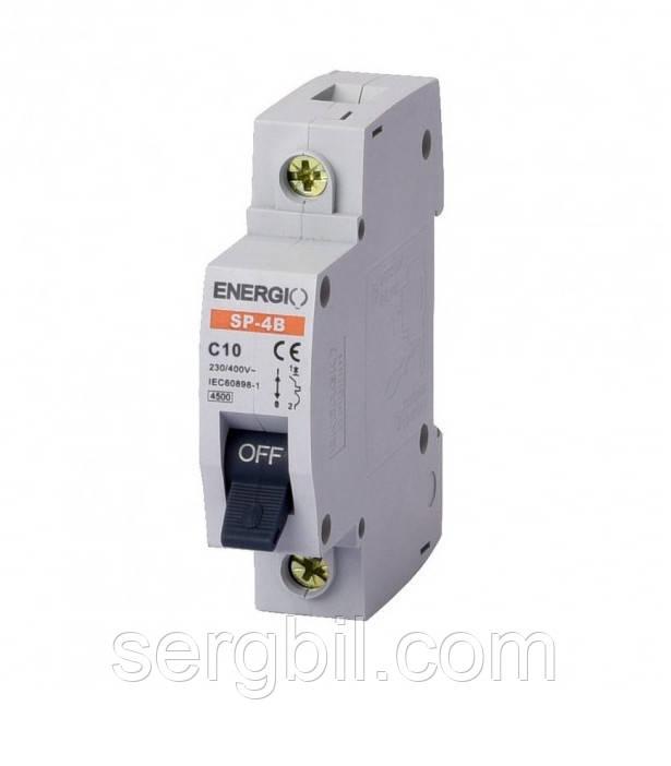 ENERGIO SP-4B 1P C 10A 4,5кА Автоматический выключатель