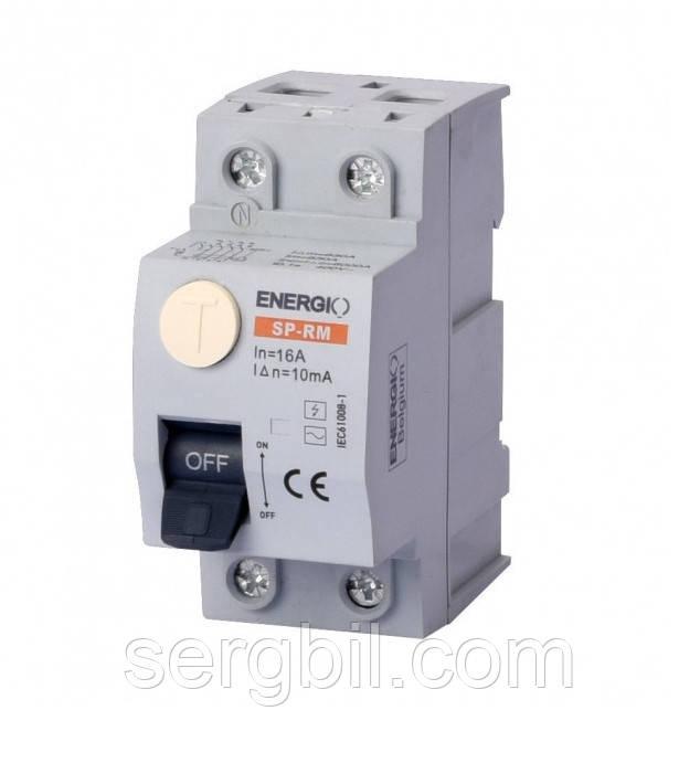 ENERGIO SP-RM 2P 16А 10мА тип AC УЗО Электромеханическое
