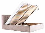 Кровать Двуспальная Richman Честер 180 х 200 см Мисти Milk С подъемным механизмом и нишей для белья Бежевая (rich00070), фото 7