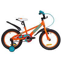 """Детский велосипед Formula 16"""" JEEP рама-8,5"""" 2019 оранжево-бирюзовый (OPS-FRK-16-068)"""