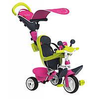 Детский велосипед Smoby Беби Драйвер металлический с козырьком и багажником (741201)