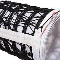 Сетка для волейбола ЕВРО НОРМА ЛАЙТ SO-2078 (PP 3мм, р-р 9,5x1м, ячейка 10x10см, с метал. тросом, белый, черный-белый)