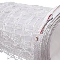 Сетка для волейбола ЕВРО SO-2074 (PP 3мм, р-р 9,5x1м, ячейка 10x10см, с метал. тросом, белый, черный-белый)