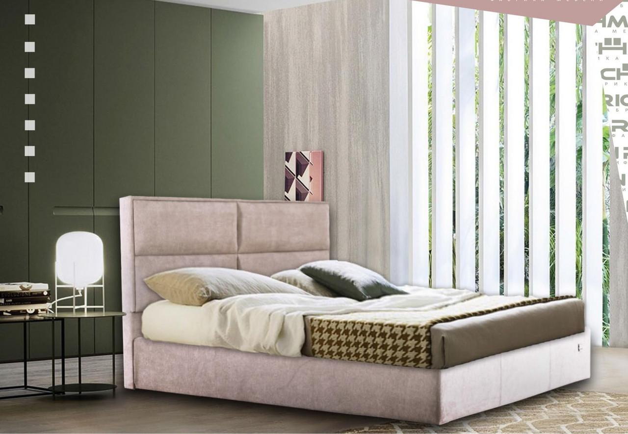 Кровать Richman Шеффилд 120 х 190 см Мисти Mocco С подъемным механизмом и нишей для белья Серая