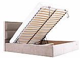 Кровать Richman Шеффилд 120 х 190 см Мисти Mocco С подъемным механизмом и нишей для белья Серая, фото 8
