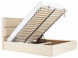 Кровать Richman Шеффилд 120 х 190 см Флай 2207 С подъемным механизмом и нишей для белья Бежевая, фото 7