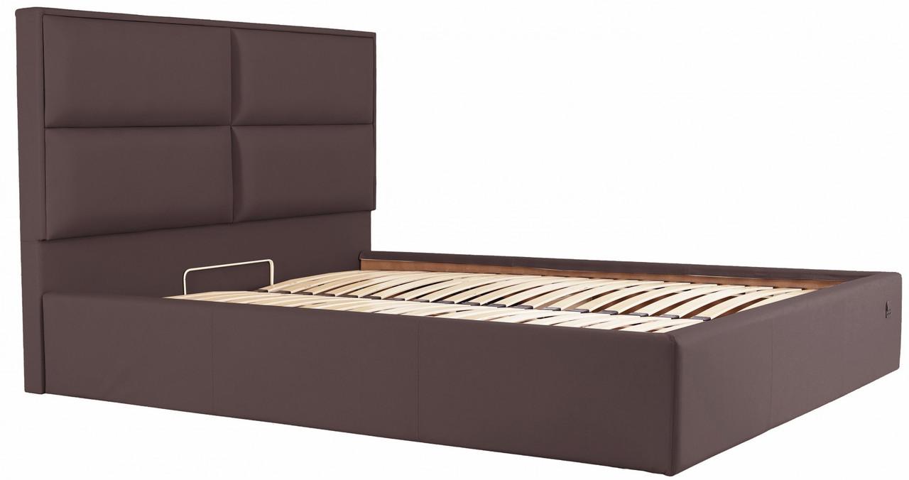Кровать Richman Шеффилд 120 х 190 см Флай 2231 С подъемным механизмом и нишей для белья Темно-коричневая