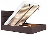 Кровать Richman Шеффилд 120 х 190 см Флай 2231 С подъемным механизмом и нишей для белья Темно-коричневая, фото 7