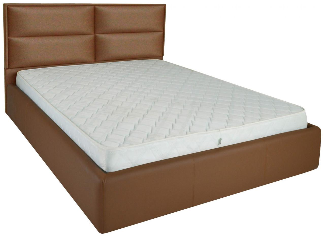 Кровать Sheffield Comfort 140 х 190 см Fly 2213 A1 С подъемным механизмом и нишей для белья Светло-коричневая