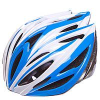 Шлем защитный с механизмом регулировки Zelart SK-5612 (EPS, PE, р-р L-54-56, 12 отверстий, цвета в ассортименте)