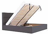 Кровать Двуспальная Richman Шеффилд 180 х 190 см Мисти Dark Grey С подъемным механизмом и нишей для белья, фото 6