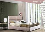 Кровать Двуспальная Richman Шеффилд 180 х 190 см Мисти Dark Grey С подъемным механизмом и нишей для белья, фото 9