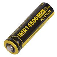 Аккумулятор литиевый Li-Ion IMR 14500 Nitecore 3.7V (650mAh), фото 1