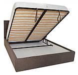 Кровать Двуспальная Richman Шеффилд 180 х 200 см Miss 08 С подъемным механизмом и нишей для белья Коричневая, фото 4
