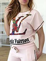 Турецкий розовый спортивный костюм Louis Vuitton
