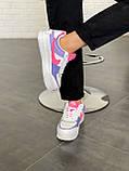 """Кроссовки Nike Air Force 1 """"Shadow"""" Double Swoosh Sail Pink Purple, фото 3"""