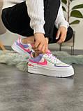 """Кроссовки Nike Air Force 1 """"Shadow"""" Double Swoosh Sail Pink Purple, фото 5"""