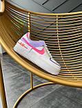 """Кроссовки Nike Air Force 1 """"Shadow"""" Double Swoosh Sail Pink Purple, фото 6"""