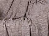 Покрывало вязаное ИНСТА 220х240 капучино Vividzone (бесплатная доставка), фото 3