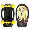 Скейтборд пластиковый FISH Nemo 17in SK-420-2 (PC, ABEC-7, колесо PU 60x45мм 82А, черный-желтый)