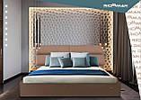 Кровать Richman Эдинбург 120 х 190 см Мисти Milk С подъемным механизмом и нишей для белья Бежевая, фото 10