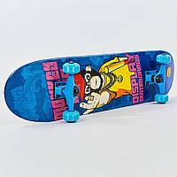 Скейтборд в сборе (роликовая доска) SK-0316 (колесо-PU, р-р деки 78х20х1,2см, АВЕС-7, цвета в ассортименте)