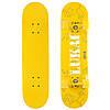Скейтборд в сборе (роликовая доска) со светящимися колесами LUKAI SK-1245-1 (колесо-PU, р-р деки см, желтый)