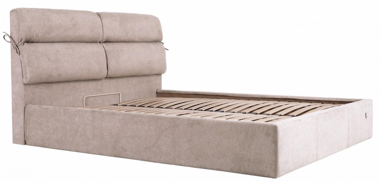 Кровать Edinburgh Comfort 140 х 190 см Мисти Mocco С подъемным механизмом и нишей для белья Серая