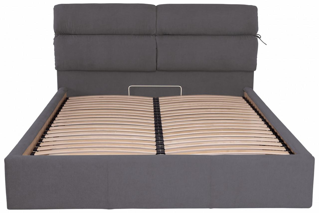 Ліжко Richman Единбург 140 х 200 см Місті Dark Grey З підйомним механізмом і нішею для білизни Темно-сіра