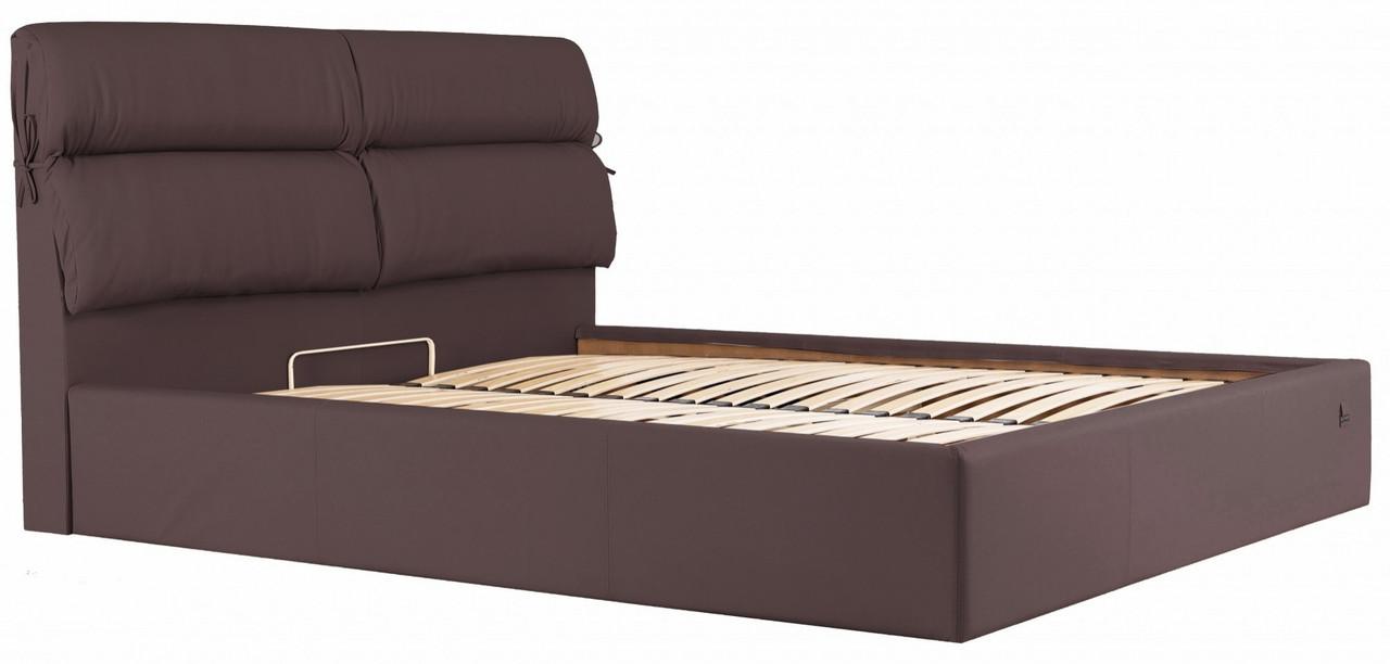 Кровать Richman Эдинбург 140 х 200 см Флай 2231 Темно-коричневая