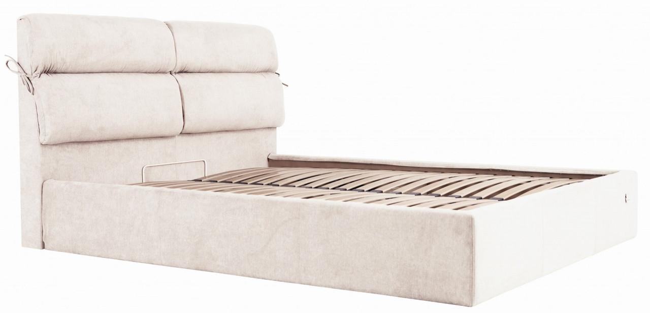 Кровать Двуспальная Richman Эдинбург 160 х 190 см Мисти Milk С подъемным механизмом и нишей для белья Бежевая