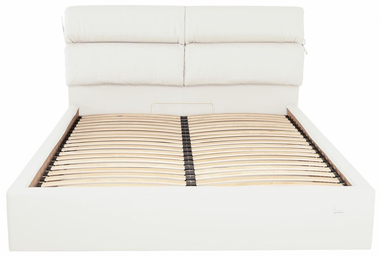 Кровать Двуспальная Richman Эдинбург 160 х 190 см Флай 2200 С подъемным механизмом и нишей для белья Белая