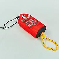 Спасательный нетонущей канат l-15м в водонепроницаемом мешке FOX40 7907-0102 RESCUE THROW BAG (полипропилен, красный), фото 1