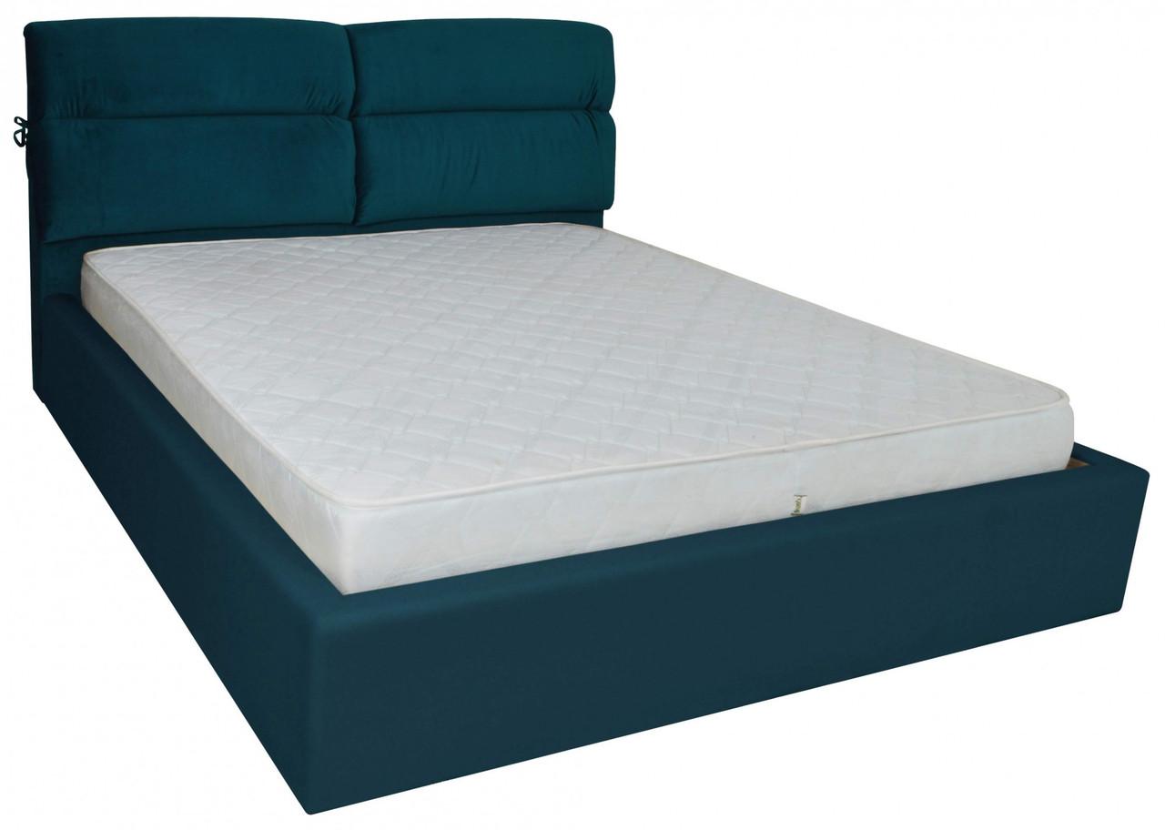 Кровать Двуспальная Richman Эдинбург 160 х 200 см Missoni 017 Синяя