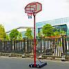 Стойка баскетбольная со щитом (мобильная) MEDIUM PE003 (щит-PE р-р 90x60х17см, кольцо-сталь (16мм) d-38см, регул.высота 210-260см)
