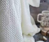 Покривало в'язане ІНСТА 220х240 молочний Vividzone (безкоштовна доставка), фото 2