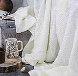 Покривало в'язане ІНСТА 220х240 молочний Vividzone (безкоштовна доставка), фото 3