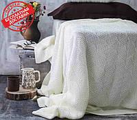 Покрывало вязаное ИНСТА 220х240 молочний Vividzone (бесплатная доставка), фото 1