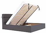 Кровать Двуспальная Richman Эдинбург 180 х 200 см Мисти Dark Grey С подъемным механизмом и нишей для белья, фото 6