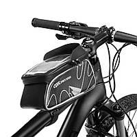 Сумка на раму велосипеда B830L (PL, р-р 20x9x21см, черный)