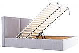 Кровать Richman Дели 140 х 200 см Мисти Grey С подъемным механизмом и нишей для белья Серая, фото 7