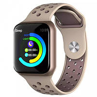 Умные смарт часы с функцией многофункционального фитнес-трекера Smart Watch F8 Classic Бежевый цвет